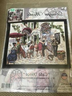 "CAFE DANCE Design Works Counted Cross Stitch Kit 10"" x 14"" U"