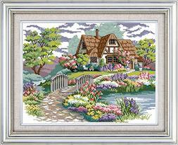 Joy Sunday Canvas DMC Counted Chinese Cross Stitch Kits Scen