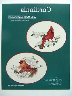 """""""Cardinals"""" Cross-Stitch Design by Tice-Bohanan Creations an"""