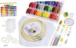 Caydo 164 Pieces Embroidery Kit with Instructions, 72 Color