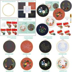Caydo 5 Sets Embroidery Starter Kit With Pattern And Instruc