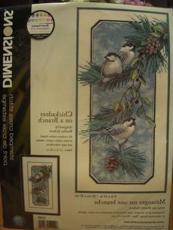 Dimensions Chickadees on a Branch Stamped Cross Stitch Kit -