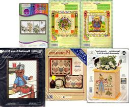 CHOICE: Counted Cross Stitch Kits Sewing Bear • Garden •