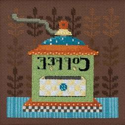 Coffee Grinder Cross Stitch Kit Mill Hill Debbie Mumm 2016 G