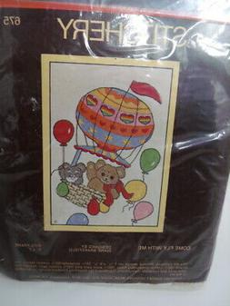Sunset Stitchery COME FLY WITH ME BALLOON Stamped Crewel Sti