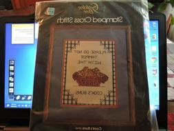 Cook's Buns Stamped Cross Stitch Kit