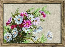 """Cosmos Counted Cross Stitch Kit-11.75""""X8.25"""" 15 Count"""