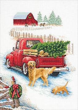 "Dimensions Counted Cross Stitch 10""X14""-Winter Ride"