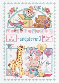 Dimensions Needlecrafts Counted Cross Stitch, Birth Record f