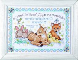 Design Works Crafts Counted Cross Stitch, Woodland Baby Samp