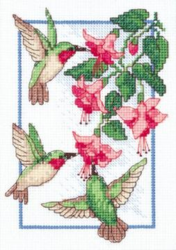 Dimensions Needlecrafts Counted Cross Stitch, Hummingbirds F