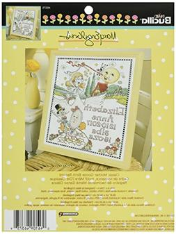 Bucilla Counted Cross Stitch Birth Record Kit, 10 by 13-Inch