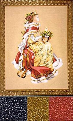 Mirabilia Counted Cross Stitch Chart with Bead pack ~ ROYAL