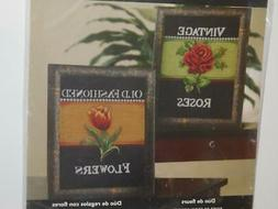 "Bucilla Counted Cross Stitch FLOWER PACKAGE DUO Two 8"" x 8"""