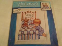 "Tobin Counted Cross Stitch Kit 11"" x 14"" Birth Record BEDTIM"