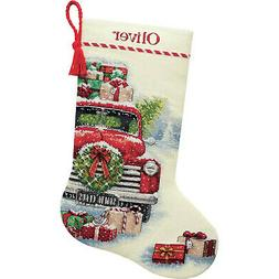 """Dimensions Counted Cross Stitch Kit 16"""" Long-Santa's Truck S"""