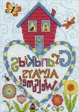 counted cross stitch kit 5 x7 grandkids