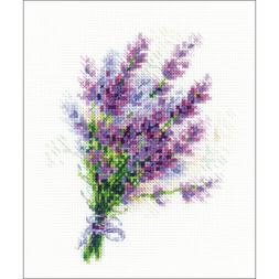 """RIOLIS Counted Cross Stitch Kit 6""""X7""""-Bouquet With Lavender"""