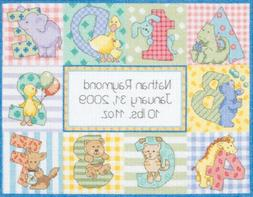 Dimensions 'Baby Hugs Zoo Alphabet Birth Record' Counted Cro
