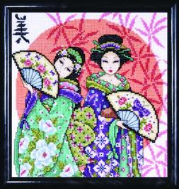 Design Works Counted Cross Stitch kit - Two Geishas