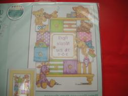 Dimensions Counted Cross Stitch Kit. Baby Drawers Birth Reco
