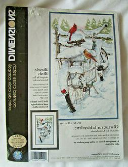 DIMENSIONS COUNTED CROSS STITCH KIT BICYCLE BIRDS CARDINALS
