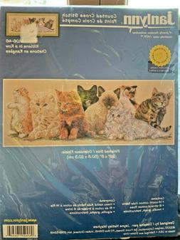 COUNTED CROSS STITCH KIT BY JANLYNN NEW IN PACKAGE