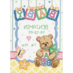Dimensions Counted Cross Stitch kit - Birth Record Baby Bloc