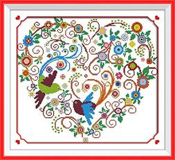 Benway Counted Cross Stitch Kit Colorful Phoenix Fenghuang H