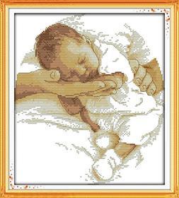 Counted Cross Stitch Kit, Cross-Stitch Patterns Care Baby wi