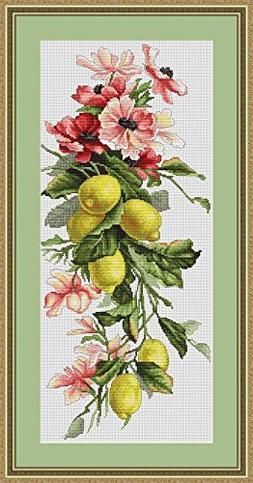 Lucas S Counted Cross Stitch Kit Lemons