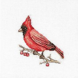 Counted Cross Stitch Kit Luca-S B1156 - Cardinal - NEW