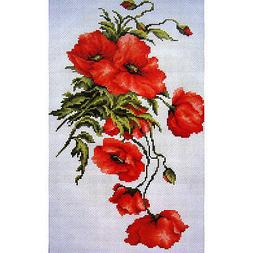 Counted Cross Stitch Kit Luca-S B2236 - Poppies - NEW