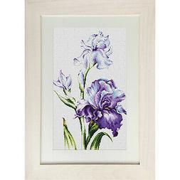 Counted Cross Stitch Kit Luca-S B2251 - Irises - NEW