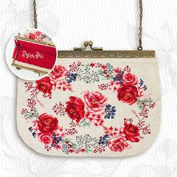 Counted Cross Stitch Kit Luca-S Bag 023 - Handbag Flowers Ro