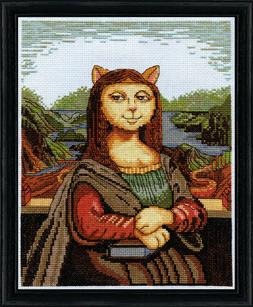 "Design Works Counted Cross Stitch Kit Meowy Lisa 8"" X 10"" NE"