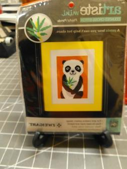 Artiste Mini Counted Cross Stitch Kit Playful Panda