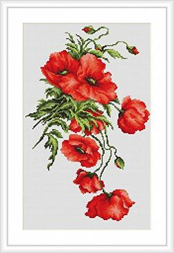 Luca-S Counted Cross Stitch Kit Poppies