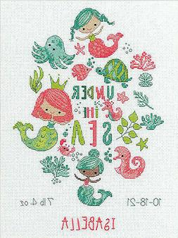Counted Cross Stitch Kit ~ Dimensions Under the Sea Birth Re