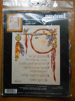 Janlynn Counted Cross Stitch Kit WEB OF LIFE Dreamcatcher Na