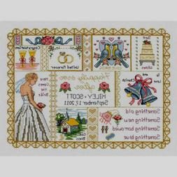 "Janlynn Counted Cross Stitch Kit Wedding Collage 11"" X 14"" N"