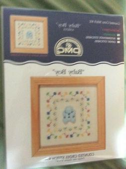 "DMC Counted Cross Stitch Kit with frame  # K3667US ""Baby Boy"