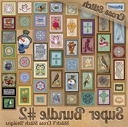 StitchX Cross Stitch Counted Cross Stitch Pattern Bundle 2 -