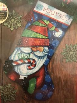 Dimensions Crafts 71-09154 Needlecraft Sweet Santa Stocking