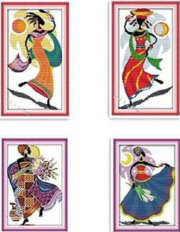 Happy Forever Cross Stitch, Figure, African amorous feelings