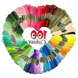 Homder Cross Stitch Floss 100 Skeins Premium Rainbow Color E