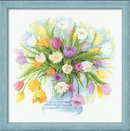 Riolis Premium Cross Stitch Kit 100/008 Tulips / Nature / Fl