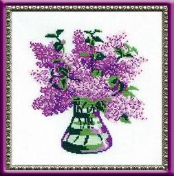 Riolis cross stitch kit 603 Bunch of Lilacs flowers STICKPAC