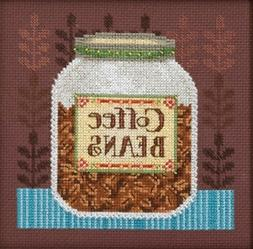 Cross Stitch Kit ~ Mill Hill / Debbie Mumm Jar of Coffee Bea