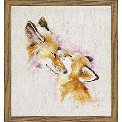 Lucas Cross Stitch Kit Foxes